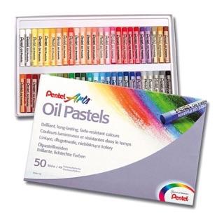 Màu sáp dầu Pentel (Oil Pastel) 50 màu