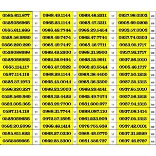 SIM SỐ ĐẸP 5 MẠNG ĐỒNG GIÁ 799K – TỨ QUÍ , TAM HOA , THẦN TÀI , LỘC PHÁT, PHONG THỦY , NĂM SINH – LOẠI 2