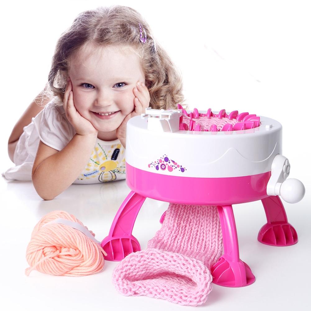 Plastic Knitting Machine Scarf Hat Sock Smart Knitter Kid Learning DIY Toys