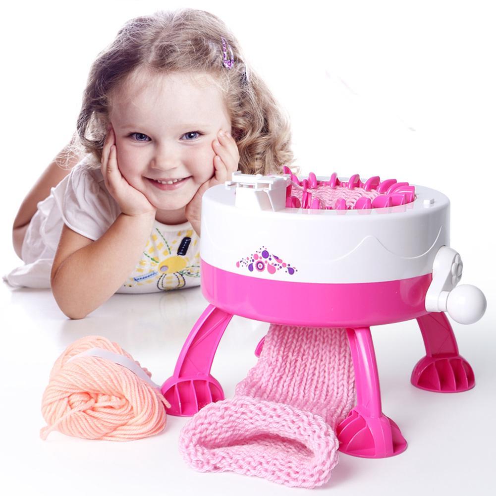 Mini Children Hand Knitting Weaving Machine Loom Knit for Hat Scarf Toys Gift