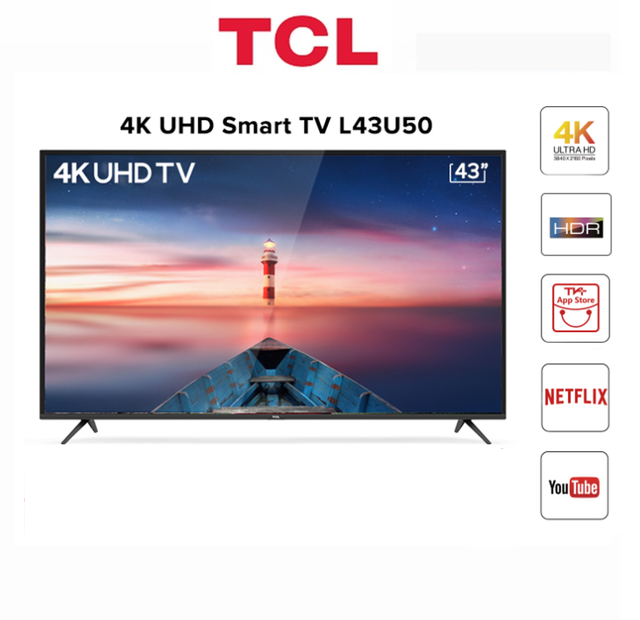 Smart Tivi TCL 4K 43 inch L43U50 - Hàng Chính Hãng
