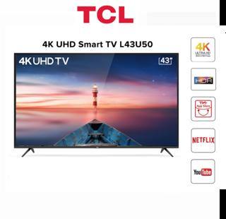 Hình ảnh [Mã ELLIXI giảm 10% đơn từ 1TR] Miễn phí lắp đặt_Smart Tivi TCL 4K 43 inch L43U50 - Hàng Chính Hãng-0
