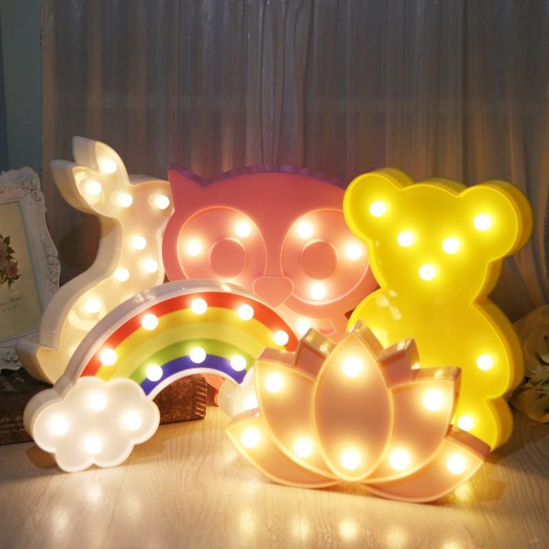 Đèn Ngủ Trang Trí 3d Hình Cầu Vồng