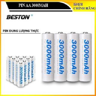 Set 4 pin sạc AA 3000 mAh Beston chính hãng Pin dung lượng cao chuyên dùng cho micro không dây, máy ảnh