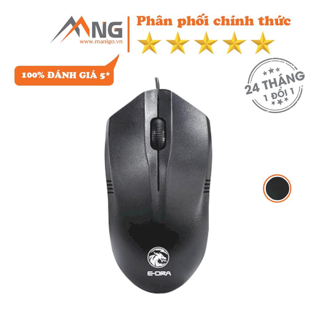 Chuột Máy Tính E-DRA EM601 Dành Cho Văn Phòng, PC, Dàn Games Có Dây Bảo hành 12 tháng