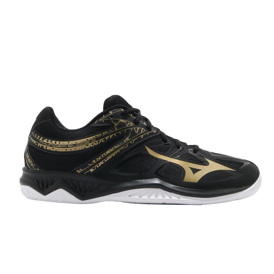 Giày cầu lông Mizuno Thunder Blade V1GA197052 mẫu mới, màu đen dành cho nam đủ size