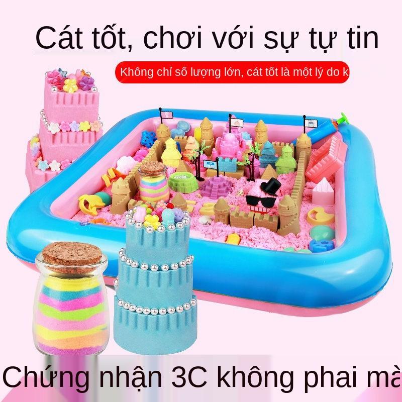 Bộ đồ chơi cát không gian, đất nặn màu ma thuật trẻ em, đồ chơi giáo dục trẻ em an toàn, không độc hại cho bé trai và bé