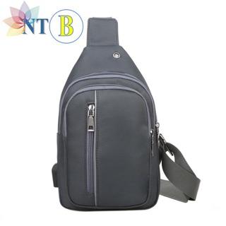 Túi đeo chéo thời trang, túi chéo nam,, túi nam 2 ngăn có cổng USB hỗ trợ sạc dự phòng