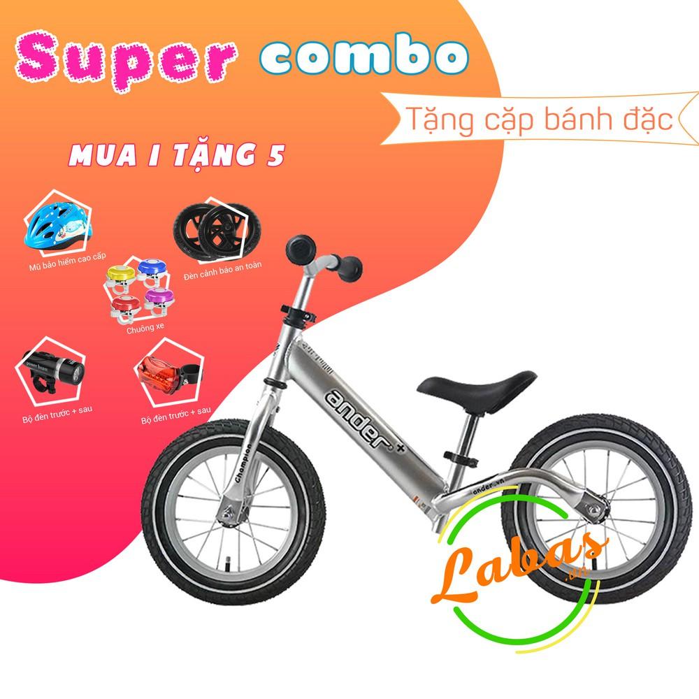 [Super Combo] Xe thăng bằng Ander Plus màu Bạc - bản bánh hơi cao cấp
