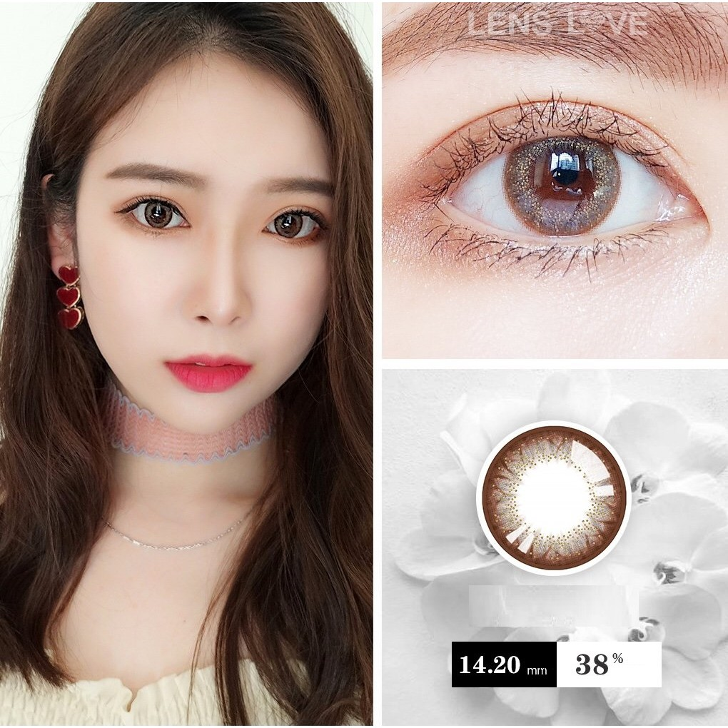 (20.JULY.26)LCHUI Series,Silicone Hydrogel,Sensitive Eye,LENSLOVE Brand ,14.2mm,Grade 0-900,Contact Lenses Yearly use(gray)