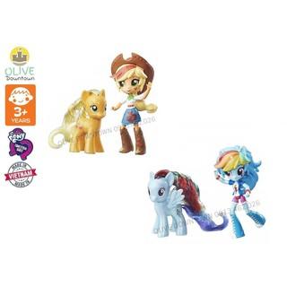 BỘ Búp bê & Ngựa Pony lấp lánh có phụ kiện: Rainbow Dash – Apple Jack