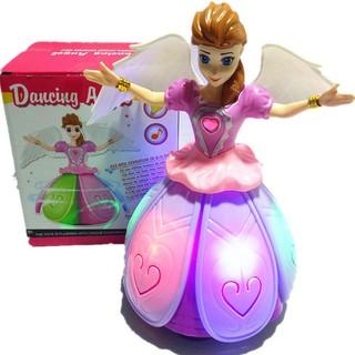Búp bê Elsa nhảy mua xòe có cánh phát nhạc di chuyển