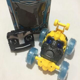 Xe nhào lộn điều khiển hình người máy Bumblebee có đèn led