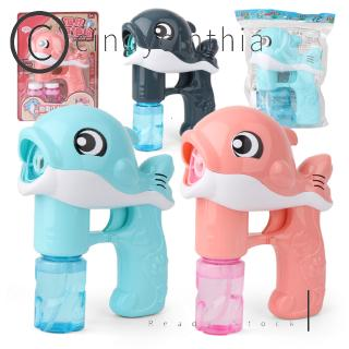 Cartoon Bubble Blower Machine Cute Soap Water Bubble Device Children Bubble Toys