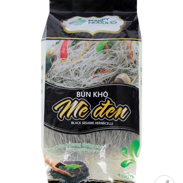 Bún Khô Mè Đen Happy Noodles 400G