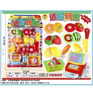 Bộ đồ chơi siêu thị trái cây cho bé