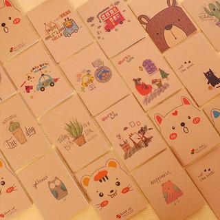 Sổ vẽ bìa nâu nhiều hình dễ thương GIÁ SỈ thumbnail