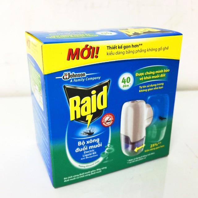 Máy xông đuổi muỗi bằng tinh dầu RAID (thương hiệu Mỹ) - 3613630 , 1188255003 , 322_1188255003 , 80000 , May-xong-duoi-muoi-bang-tinh-dau-RAID-thuong-hieu-My-322_1188255003 , shopee.vn , Máy xông đuổi muỗi bằng tinh dầu RAID (thương hiệu Mỹ)