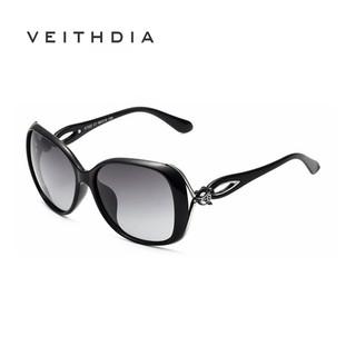 Kính râm phân cực VEITHDIA 7022 không khung cho nữ sang trọng theo phong cách cổ điển