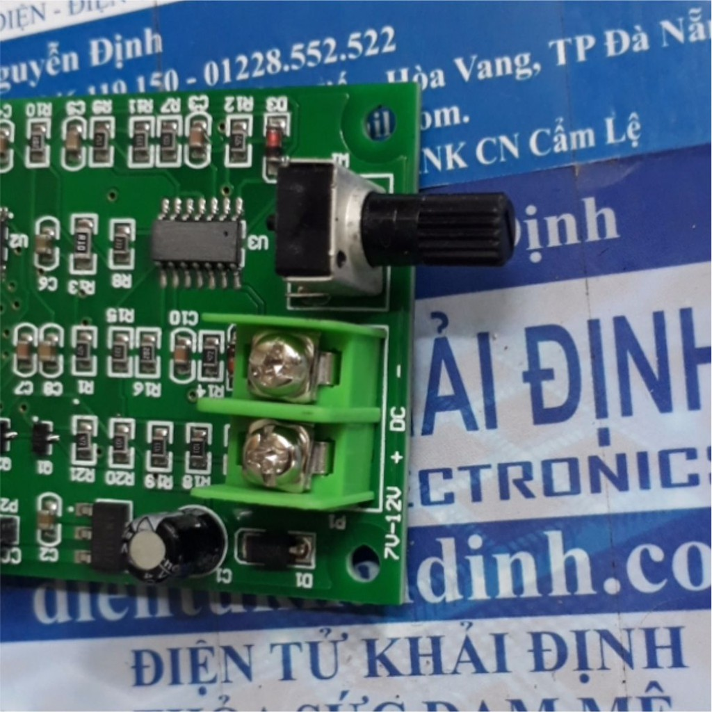 [GIÁ SỐC] module điều khiển động cơ brushless, không chổi than 7-12V, 1.2A, biến trở chỉnh tốc độ kde4578 Giá chỉ 213.000₫