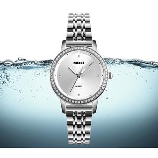 Đồng hồ thời trang nữ Skmei 1311 dây thép không gỉ viền đá cao cấp