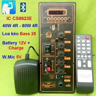 Mạch loa kéo công suất 40W - 80W HA8622 Loa kéo 2.5 - 3 tấc Bluetooth Karaoke