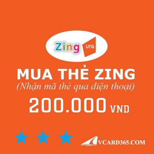 Mã Thẻ Zing 200k