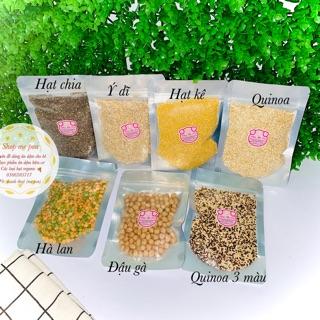 Đậu hạt hữu cơ đậu gà,hạt kê,đậu lăng,đậu hà lan,hạt chia,hạt quinoa,hỗn hợp đậu,quinoa 3 màu,ý dĩ,gạo hữu cơ,đạu nành thumbnail