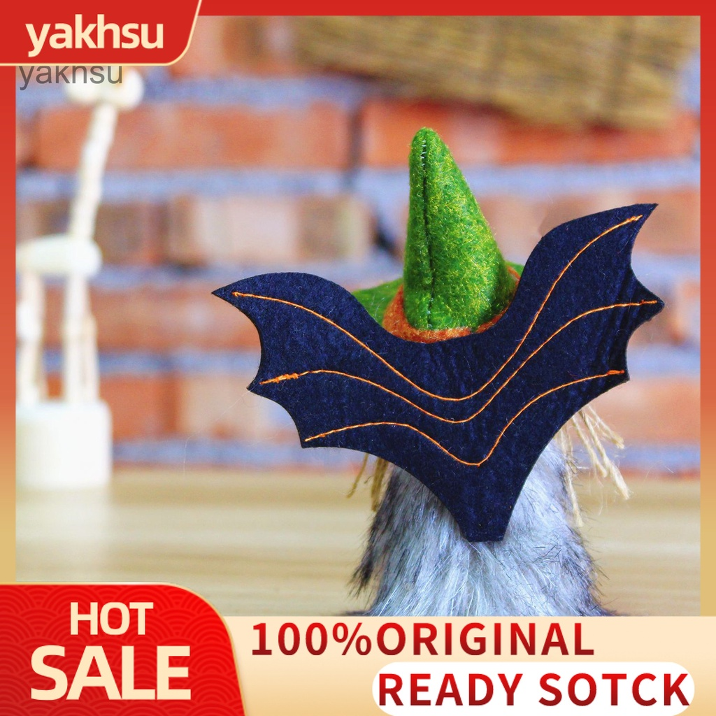 Yak_ Compact Halloween Ornament Easy-carrying Plush Angel Doll Special Home Decor