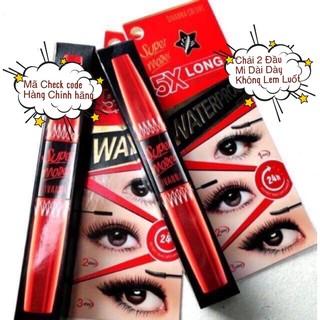 Mascara SUPER MODEL 5X (auth) siêu dày & dài mi Thailand 2 đầu có tem check code thumbnail