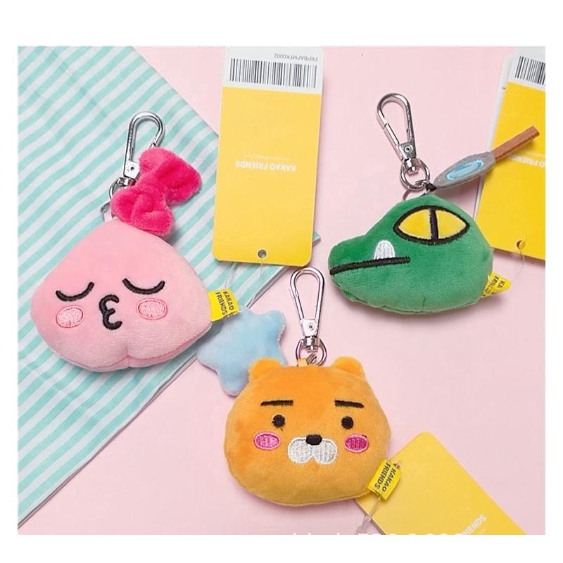 Peach Doll Keychain Pendant Korean-style Fashion Kakao Anime Friends Lion Fart