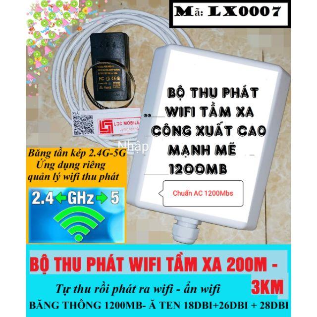 [Nhập ELCLMAY hoàn 30K xu đơn từ 200K]Thiết bị thu phát wifi tầm xa 300m-3km băng tần kép 2.4GHZ và 5GHZ (1200Mb) Giá chỉ 650.000₫