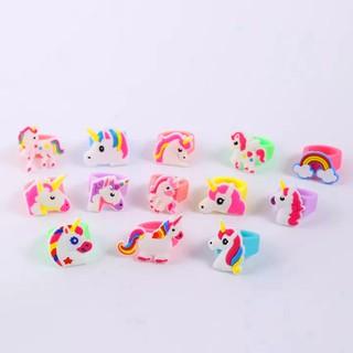 [Vòng nhẫn màu hồng] Nhẫn Unicorn hottrend cho bé bằng silicon đủ họa tiết năng động đáng yêu BBShine J044 thumbnail