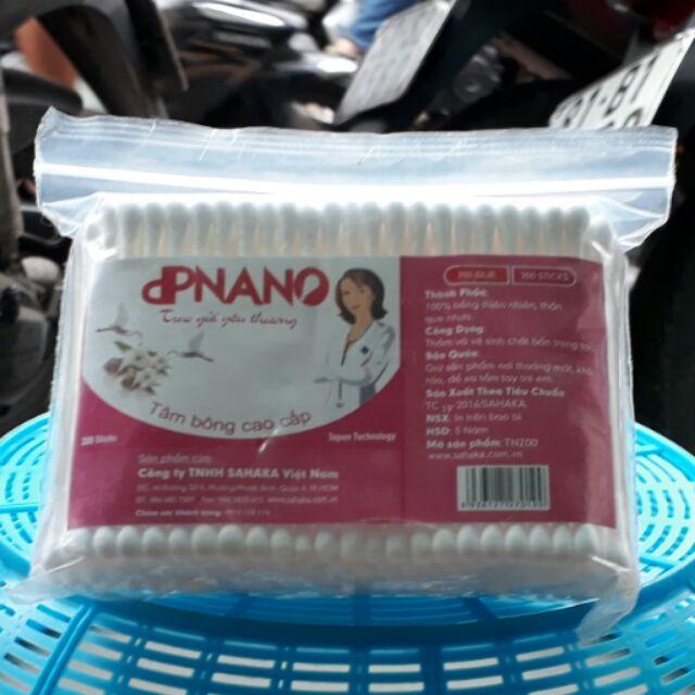 Tăm bông ngoáy tai TN200 dpNano que nhựa người lớn Gia Phú ( 200 que )