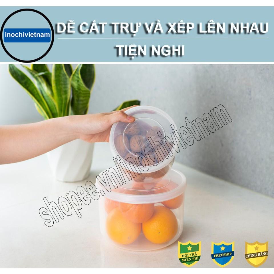 [Bộ 3] Hộp Nhựa -Đựng Thực Phẩm Thức Ăn Hokkaido Tròn INOCHI Nhựa Cao Cấp Trong Suốt Bền Kín Chịu Nhiệt Cao BOHTPPTN