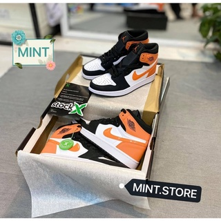 [MINTSTORE] Giày Sneaker Đen cam bóng cao cổ thumbnail