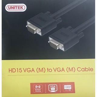 [Mã ELFLASH5 giảm 20K đơn 50K] Dây cáp màn hình VGA UNITEK Full HD 1.5-10M