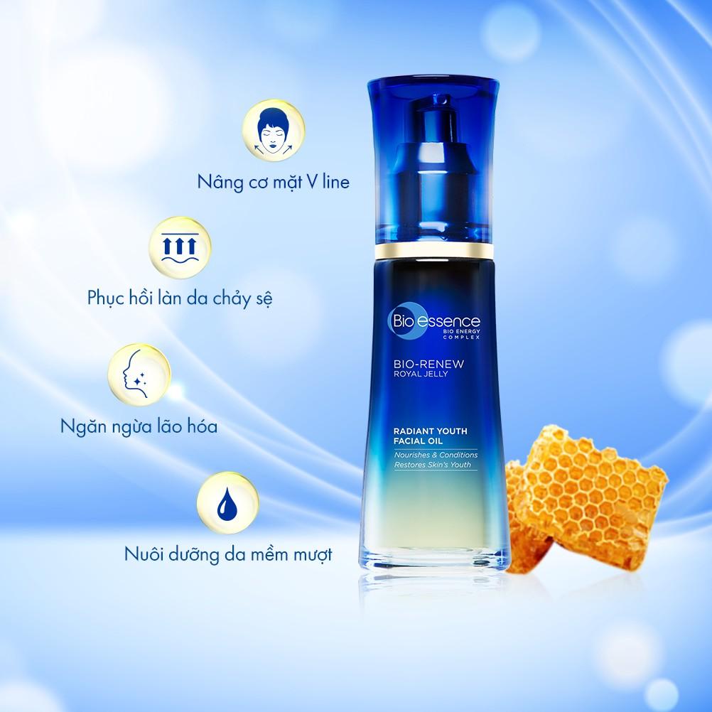 Tinh chất trẻ hóa da dưỡng da tươi trẻ Bio-Essence Bio-Renew Bio-Essence Renew  facial oil tinh chất sữa ong chúa 40ml | Shopee Việt Nam