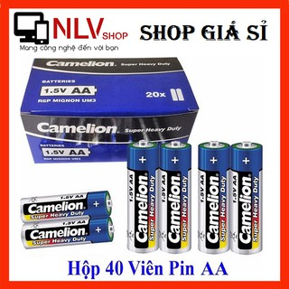 [Mã ELORDER5 giảm 10K đơn 20K] Giá Sỉ Hộp 40 Viên Pin Tiểu AA (2A) Camelion Super Heavy Duty Battery 1.5V