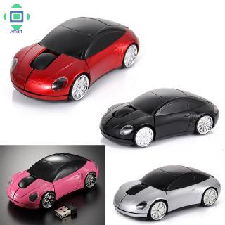 Chuột không dây Optische Funkmaus hình ô tô với kết nối USB 2.4Ghz cho PC/Laptop
