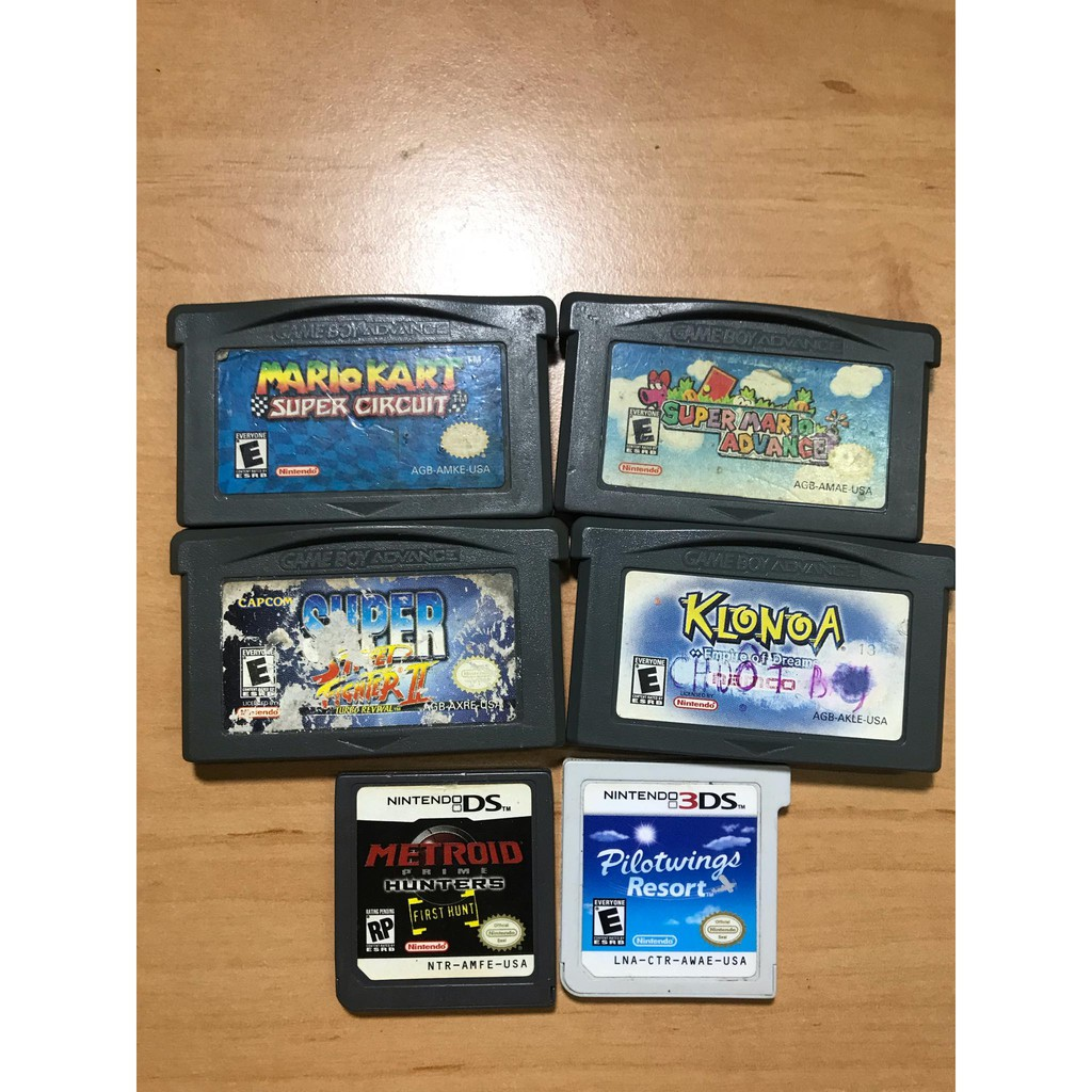 NINTENDO Gameboy Advance (GBA), DS - Super Mario, Mario Kart, Metroid, Super Street Fighter, Klonoa