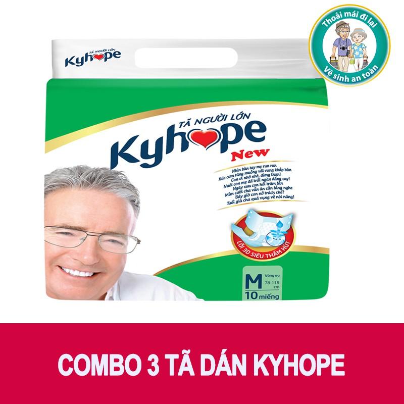 Combo 3 bịch tã dán Kyhope (30 miếng) size M, L