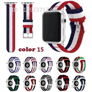 Dây đeo Apple Watch Strap 38/40mm 42/44mm Dây đeo bằng vải nylon dệt cho iWatch Series SE 6/5/4/3/2/1