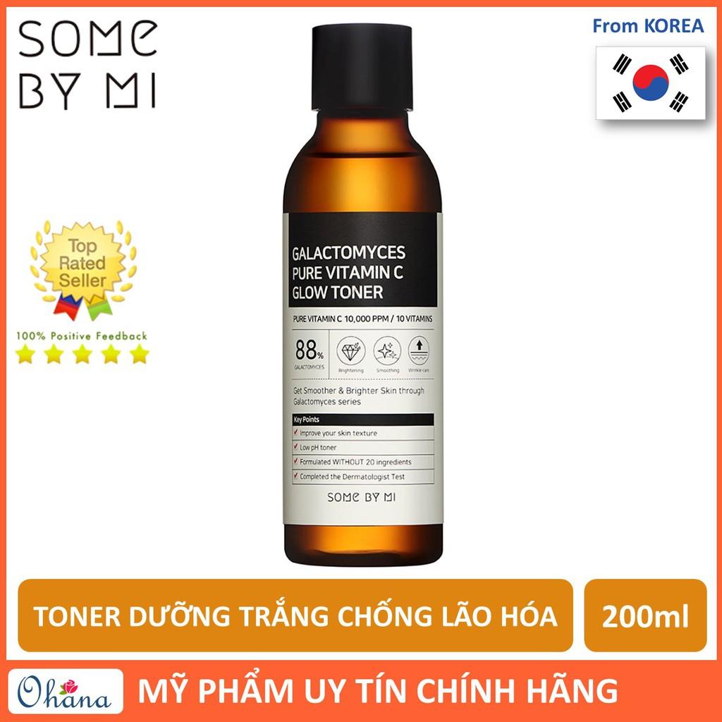 Nước Hoa Hồng Dưỡng Trắng, Chống Lão Hóa Some By Mi Galactomyces Pure Vitamin C Glow Toner 200ml
