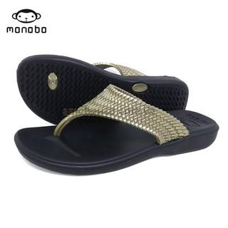 Dép kẹp xốp nữ Thái Lan MONOBO - MONIGA 5.5 - ĐEN QUAI ĐỒNG thumbnail