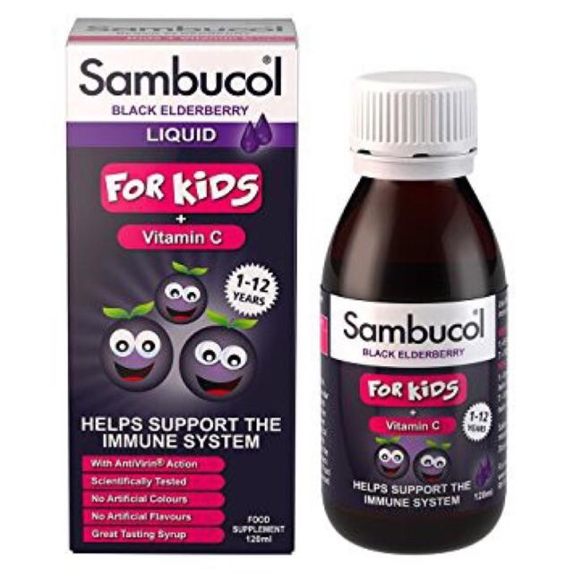 Siro Sambucol -Tăng sức đề kháng 120ml