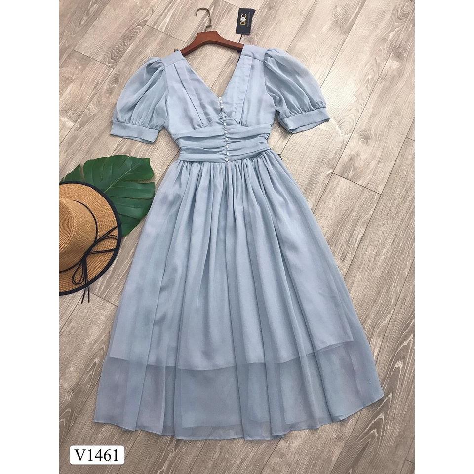 Váy mãi voan tơ V1461- mặc đi làm- mặc đi dạo phố-Mặc đi chơi cực sang(Kèm ảnh thật trải sàn do shop tự chụp)