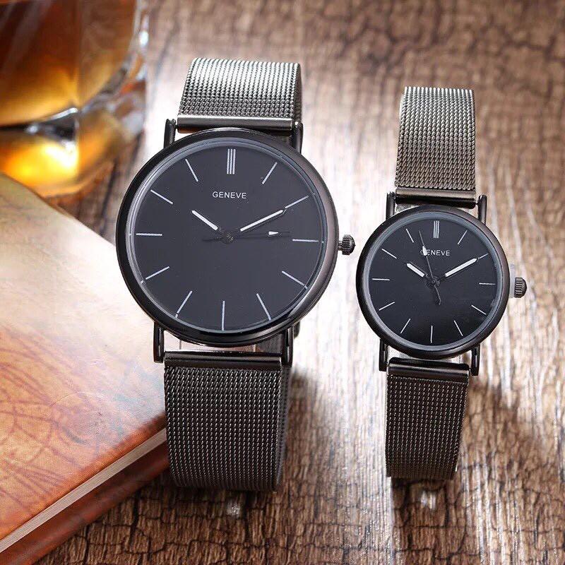 Đồng hồ cặp dây lưới thời trang nam nữ Geneve TH247