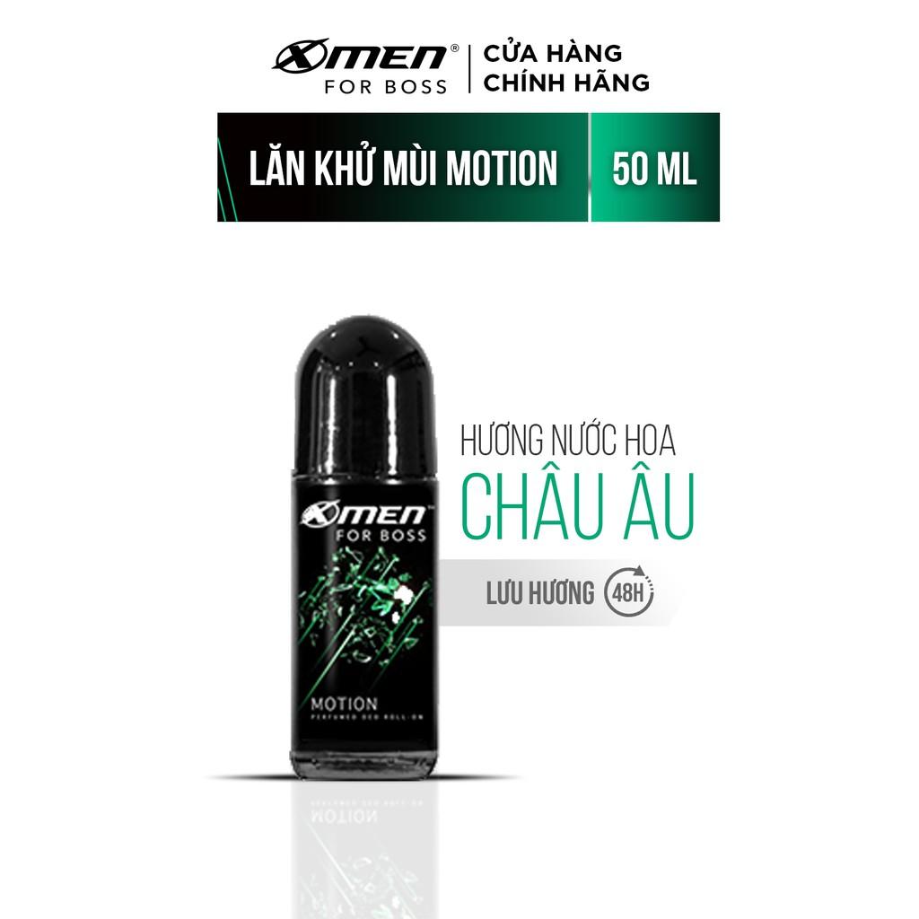 Lăn khử mùi X-Men For Boss Motion 50ml – Mùi hương năng động phóng khoáng