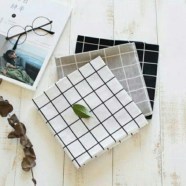 Phông nền chụp ảnh - vải bố caro (50cmx50cm)